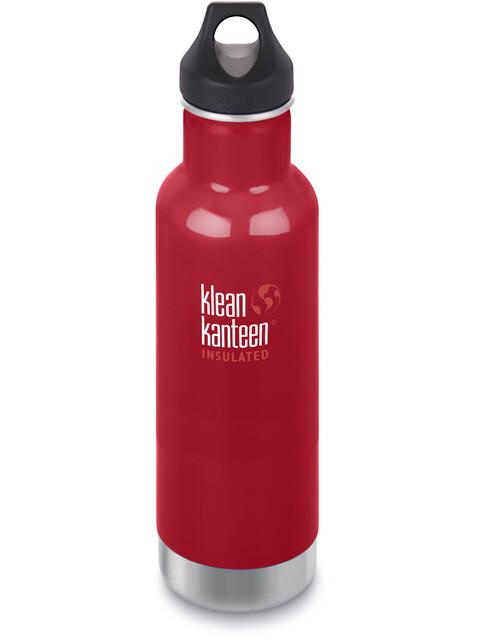 Klean Kanteen Classic Vacuum Insulated Bottle Loop Cap 592ml Mineral Red